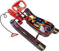 Снегокат детский Ника Тимка спорт 1 Робот (Бордовый) -
