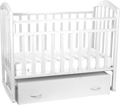 Детская кроватка Антел Алита-4 (Белая) - общий вид