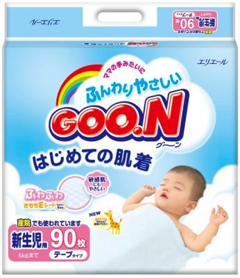 Подгузники Goo.N Premium Newborn (90шт) - общий вид