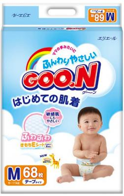 Подгузники Goo.N Premium М (68шт) - общий вид