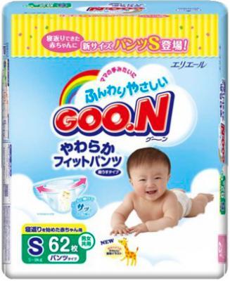 Подгузники-трусики Goo.N Premium S (62шт) - общий вид