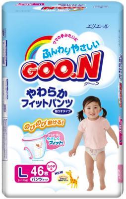 Подгузники-трусики Goo.N Premium Girl L (46шт) - общий вид