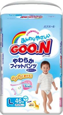 Подгузники-трусики Goo.N Premium Boy L (46шт) - общий вид