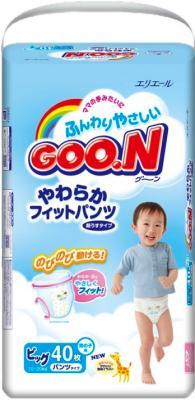 Подгузники-трусики Goo.N Premium Boy XL (40шт) - общий вид