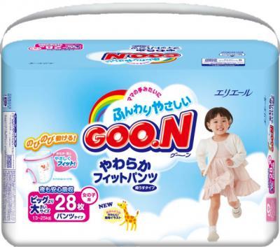 Подгузники-трусики Goo.N Premium Girl XXL (28шт) - общий вид
