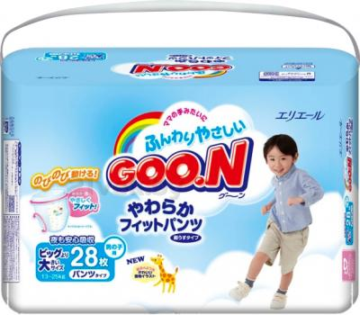 Подгузники-трусики Goo.N Premium Boy XXL (28шт) - общий вид