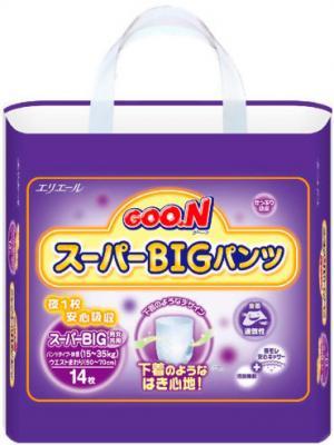 Подгузники-трусики Goo.N Super Big (14шт) - общий вид