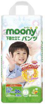Подгузники-трусики Moony Boy XXL (26шт) - общий вид