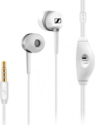 Наушники-гарнитура Sennheiser MM50 iP (белый) - общий вид