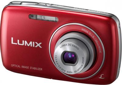 Компактный фотоаппарат Panasonic Lumix DMC-S3EE-R (Red) - общий вид
