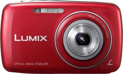 Компактный фотоаппарат Panasonic Lumix DMC-S3EE-R (Red) - вид спереди
