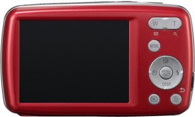 Компактный фотоаппарат Panasonic Lumix DMC-S3EE-R (Red) - вид сзади