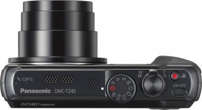 Компактный фотоаппарат Panasonic Lumix DMC-TZ40EE-K (Black) - вид сверху