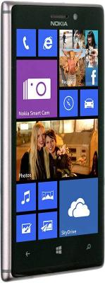 Смартфон Nokia Lumia 925 (Black) - вид сбоку