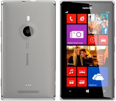 Смартфон Nokia Lumia 925 (Gray) - задняя и передняя панели