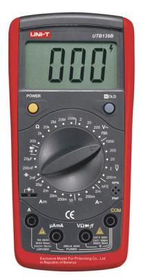 Мультиметр цифровой UNI-T UTВ139B - общий вид