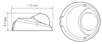 IP-камера Evidence APIX MiniDome / M2 Lite (f=2.8mm) - Размеры камеры