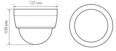 IP-камера Evidence APIX Dome / E2 Led (f=3.0-9.0mm) - Размеры камеры