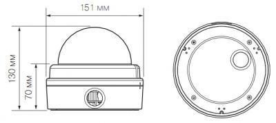 IP-камера Evidence APIX VDome / M2 Lite Led (f=3.0-10.5mm) - Размеры камеры