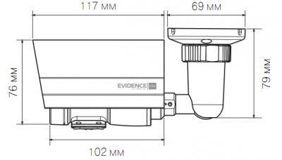 IP-камера Evidence APIX Bullet / M1 (f=3.3-12mm) - Размеры камеры