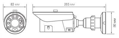 IP-камера Evidence APIX Bullet / E2 (f=3.3-12mm) - Размеры камеры