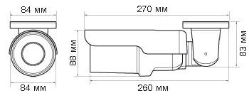 IP-камера Evidence APIX Bullet / M2 Lite (f=2.8mm) - Размеры камеры