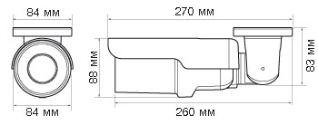 IP-камера Evidence APIX Bullet / M2 - Размеры камеры