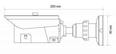 IP-камера Evidence APIX Bullet / E3 - Размеры камеры