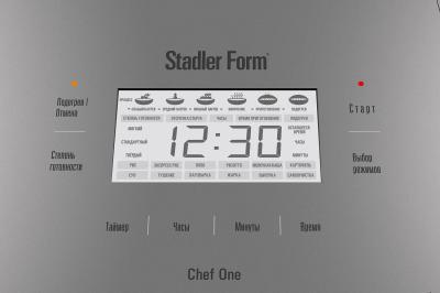 Мультиварка Stadler Form Chef One White (SFC.919) - панель управления с ЖК-дисплеем