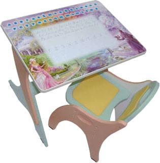 Стол+стул Интехпроект Буквы-Цифры 14-349 (голубой и розовый ) - общий вид