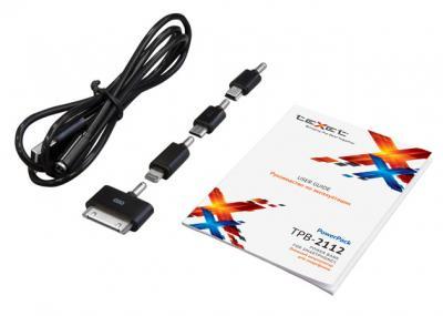 Портативный аккумулятор TeXet PowerPack TPB-2112 (Black) - кабель и инструкция