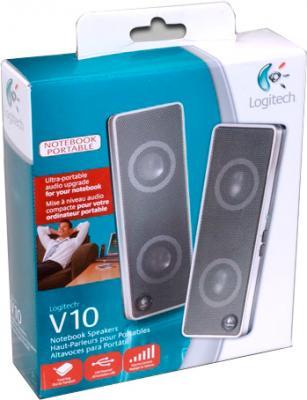 Мультимедиа акустика Logitech V10 Notebook Speakers (970194-0914) - коробка