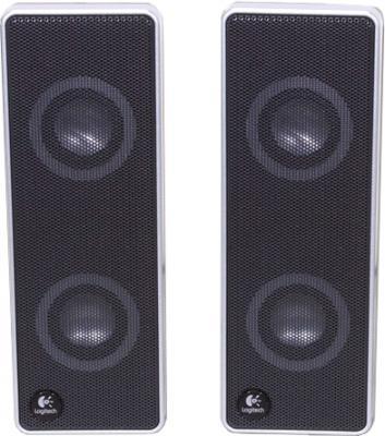 Мультимедиа акустика Logitech V10 Notebook Speakers (970194-0914) - фронтальный вид
