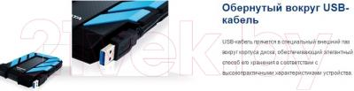 Внешний жесткий диск A-data DashDrive Durable HD710 1TB Black (AHD710-1TU3-CBK)