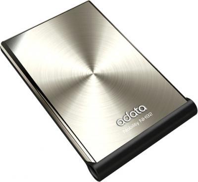Внешний жесткий диск A-data NH92 Silver 750 Gb (ANH92-750GU-CSV) - общий вид
