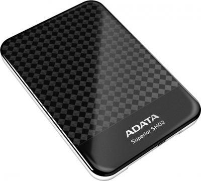 Внешний жесткий диск A-data Superior SH02 1TB Black (ASH02-1TU-CBK) - общий вид