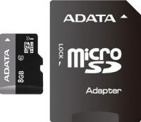 Карта памяти A-data Premier microSDHC UHS-I U1 (10 Class) 8 Gb (AUSDH8GUICL10-RA1) -