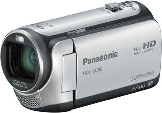 Видеокамера Panasonic HDC-SD80EE9S (Silver) - общий вид