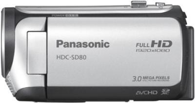Видеокамера Panasonic HDC-SD80EE9S (Silver) - вид сбоку