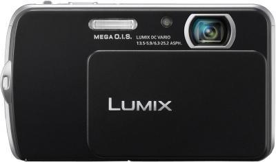Компактный фотоаппарат Panasonic Lumix DMC-FP5EE-K (Black) - вид спереди