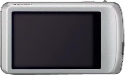 Компактный фотоаппарат Panasonic Lumix DMC-FP5EE-S (Silver) - вид сзади