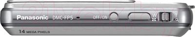 Компактный фотоаппарат Panasonic Lumix DMC-FP5EE-S (Silver) - вид сверху