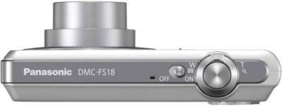 Компактный фотоаппарат Panasonic Lumix DMC-FS18EE-S (Silver) - вид сверху