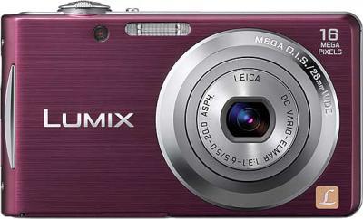 Компактный фотоаппарат Panasonic Lumix DMC-FS18EE-V (Purple) - вид спереди