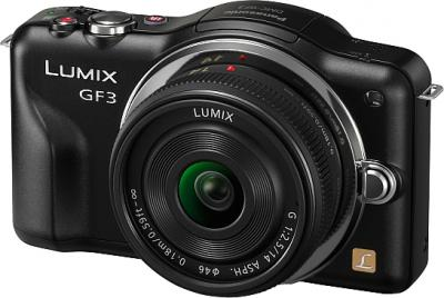Беззеркальный фотоаппарат Panasonic DMC-GF3CEE-K (Black) - общий вид