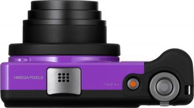 Компактный фотоаппарат Pentax Optio RZ10 (Purple) - вид сверху