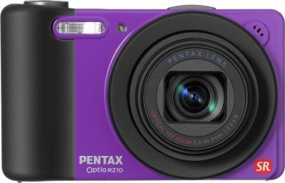 Компактный фотоаппарат Pentax Optio RZ10 (Purple) - вид спереди