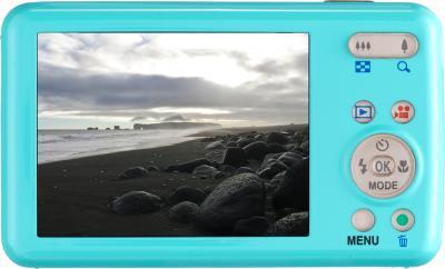 Компактный фотоаппарат Pentax Optio S1 (Aquamarine) - вид сзади