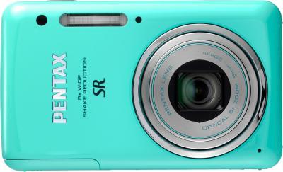 Компактный фотоаппарат Pentax Optio S1 (Aquamarine) - вид спереди