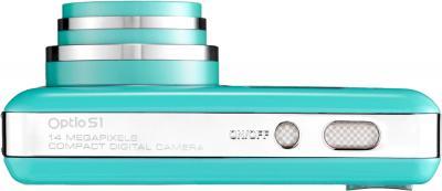 Компактный фотоаппарат Pentax Optio S1 (Aquamarine) - вид сверху